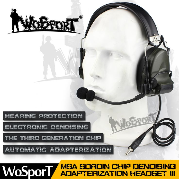 WOSPORT New Tactical Headset Noise Reduction Canceling Electronic Sound Pickup Comtac II for Two Way Radios Military Paintball