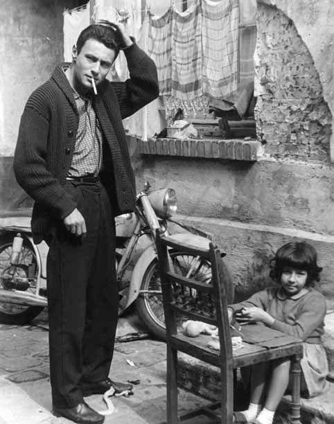 Robert Doisneau // Jeune homme à la moto, Paris ca. 1955