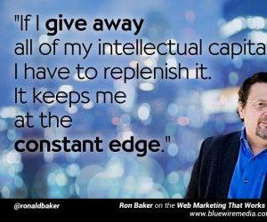 WMTW 008: LinkedIn Influencer Ron Baker on giving IP away [podcast]