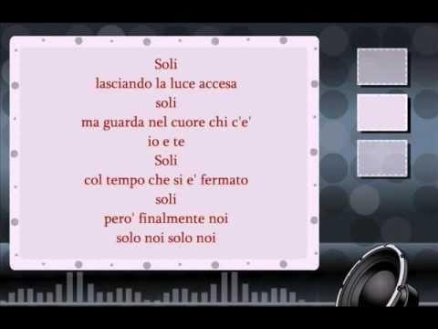 Adriano Celentano-Soli testo ( lyrics )
