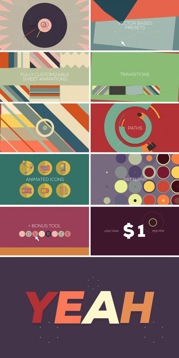 sweet - script for After Effects by Jelio Dimitrov, via Behance