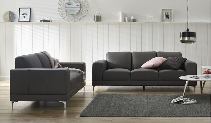 The Berkeley is our most affordable black 100% leather lounge suite. Includes a modern and slimline 3 seater and 2 seater sofa at an amazing price.