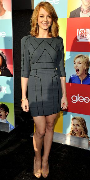 Jayma Mays - Look of the Day - InStyle - #glee #gleefashion #jaymamays in @Elie Saab @Jimmy Choo and our jewels