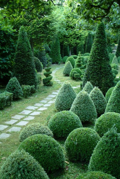 love this formal garden