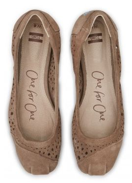 TOMS Moroccan cut-out flats in taupe. Look like ballet point shoes cute for spring