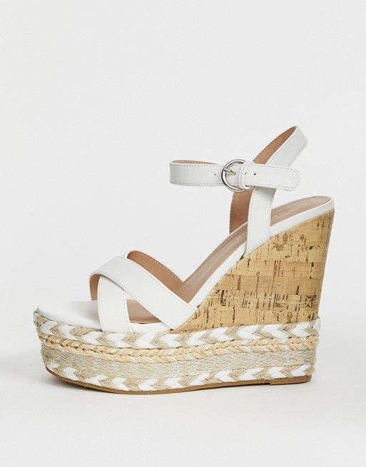 612fa0869ac New Look cork and espadrille wedges in white in 2019 | caroline ...
