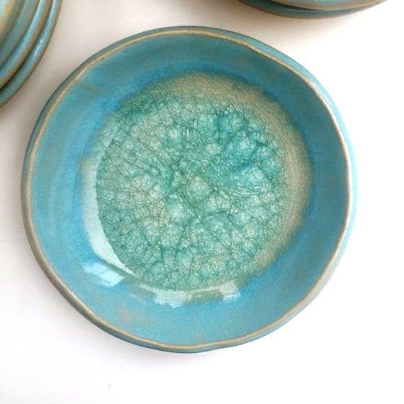Light Blue Ring Holder Small Blue Ring Dish Handmade Ring Dish Handmade Ring Holder
