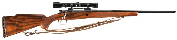 Belgian Browning Medallion Grade High Power Bolt Action Rifle with Scope