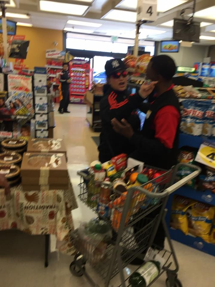 24 November 16 Muslim woman accosted in Smith's grocery store (Courtesy: Barney Lopez)