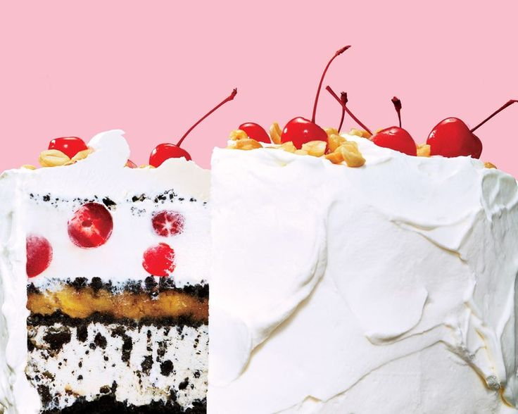 The Dessert World Needed This: Introducing the Banana Split Ice Cream Cake | Bon Appetit