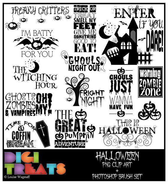 Halloween word art 50 OFF Spooky PNG Clip art by DigiTreats