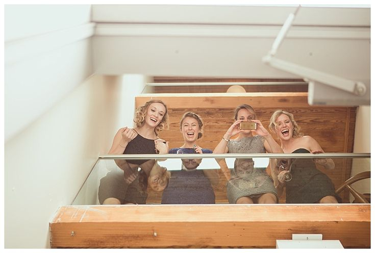 Friends watching first look with bride and groom- photo by New Vintage Media