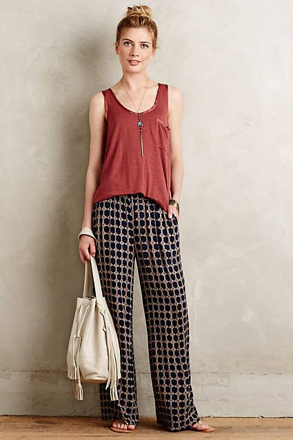Skirted Gauze Wide-Legs - anthropologie.com #anthrofave