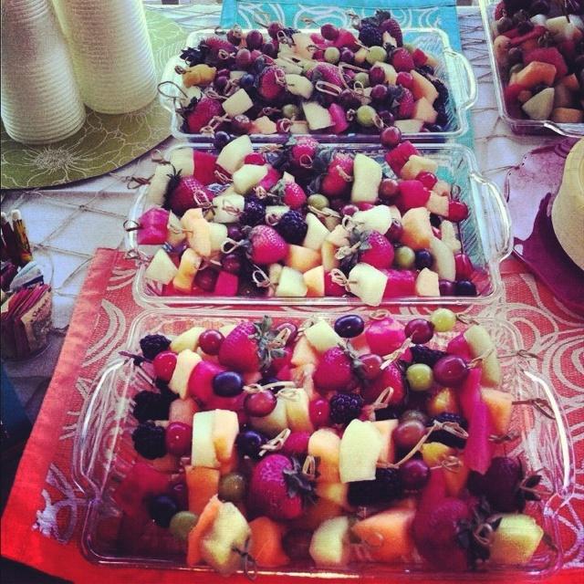 Fruit garnishs