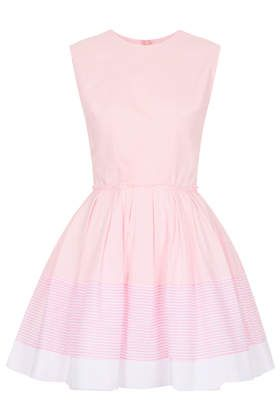 **Sophie Pink and White Stripe Dress by Jones and Jones - Dresses  - Clothing