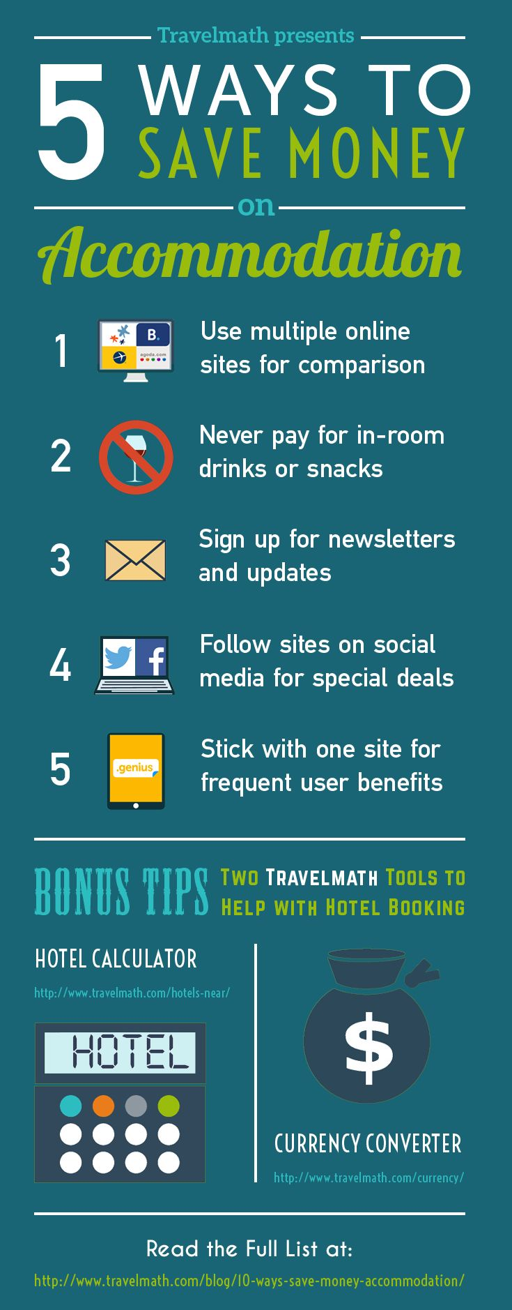 5 Ways to Save Money on Accommodation [INFOGRAPHIC] #travel