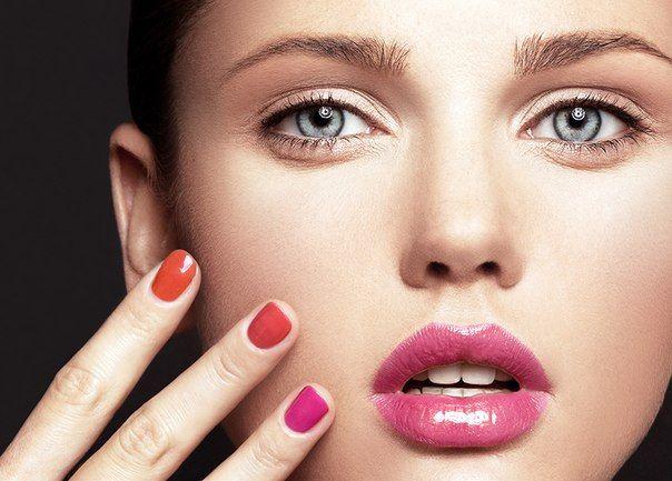 beauty make up woman girl nice beautifull fashion modern glam nails skin face lipstick pink lips colofull orange cosmetick make up YouAreWow  photo Lena Erisheva