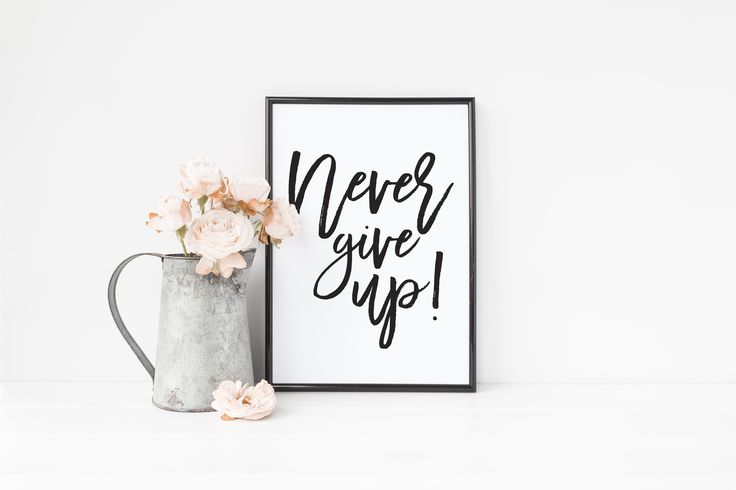 Never give up - Motivational Quote