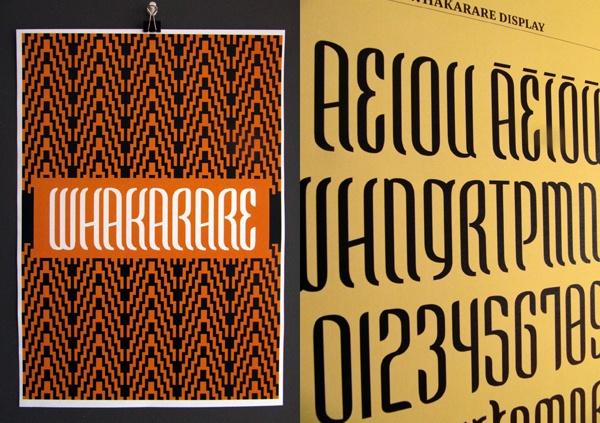 Whakarare Maori typeface by Johnson Witehira