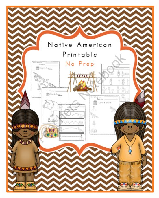Native American Printable No Prep from Preschool