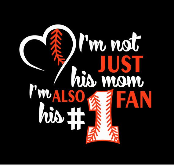 Im Not Just His Mom Or Their Mom Im Also His 1 Fan Iron On Heat Tshirt  Transfer Vinyl Baseball Decal Sports Team Fan Wear Spirit Wear