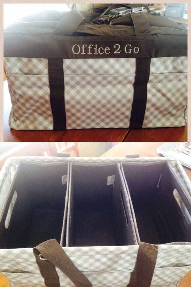 Perfect thirty one office on the go!  The Deluxe Utility Tote can hold three Fold N Files! Shop these products and more at https://www.mythirtyone.com/jmartin12
