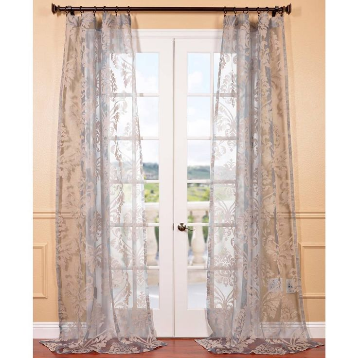 Patterned Sheer Curtain Panels 63 Inch Sheer Curtain Panels