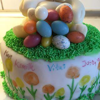 Vi har besøg af den sødeste kusine idag - så skulle der da lige navne på kageresterne fra igår😀 #påskekage #numednavne #hyggeligpåske