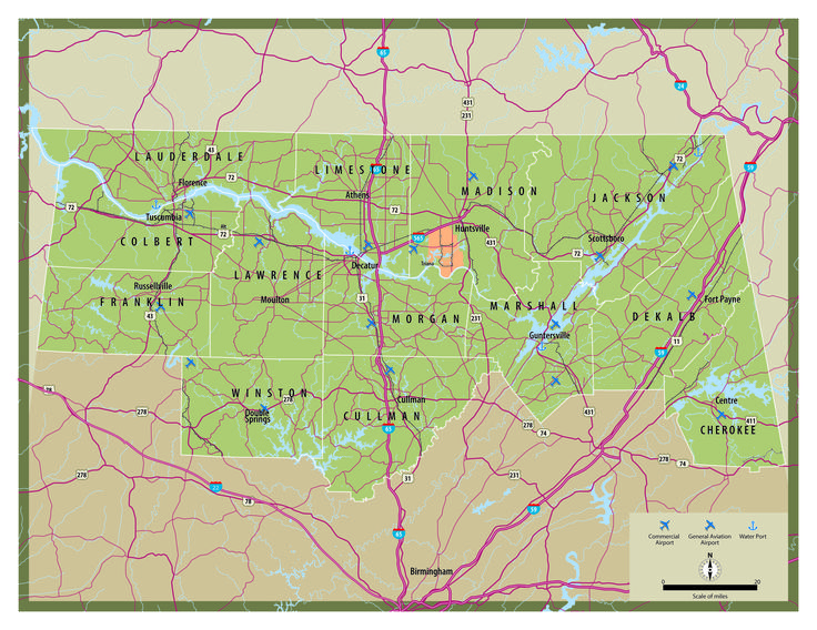 North Alabama NAIDA Highway Map North Alabama Pinterest - Alabama highway map