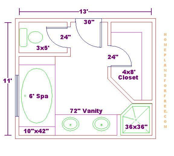 Free bathroom plan design ideas click image to close this for Master bathroom floor plan ideas