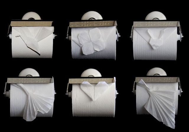 toilet paper folds