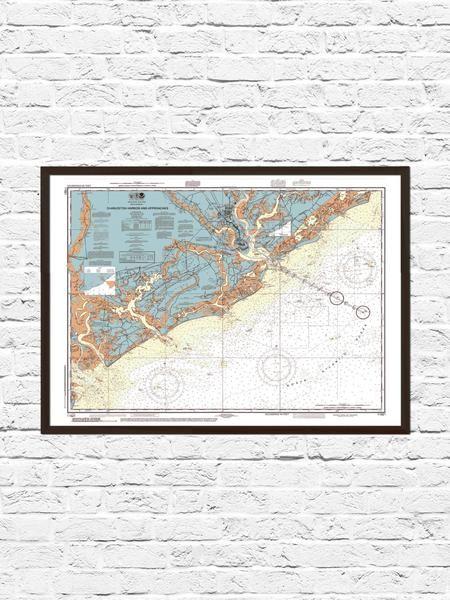 Best 25 charleston map ideas on pinterest charleston sc map charleston map art 8x10 1500 malvernweather Images