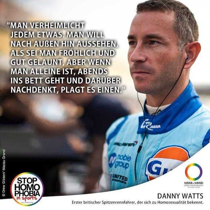 #QuoteOfTheDay  Der britische Rennfahrer Danny Watts ist der erste Spitzenrennfahrer der sich zu Homosexualität bekennt. VielfaltSport berichtete: http://ift.tt/2l0R1xN  #EnoughisEnough #StopHomophobia #LGBTI #Community #Gesellschaft #StopHomophobiaInSports #Rennfahrer #Rennsport