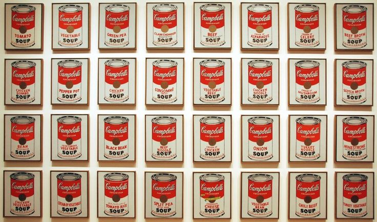 Cambell's Soup Cans, 1962,