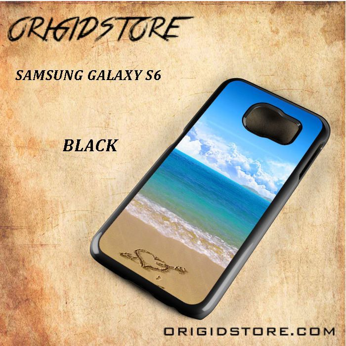 Love in Sand Beach Beautiful Natural Scane Black White Snap On 3D For Samsung Galaxy S6 Case