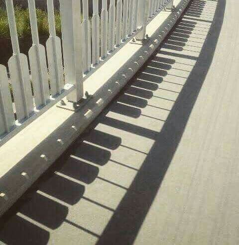 Piano shadow.