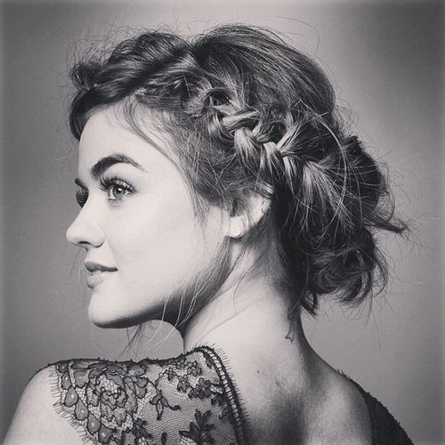 Lucy Hale - lucyhale: Fitting a bob into braids: how to achieve the impossible by @kristin_ess @blowpro_hair @kdeenihan