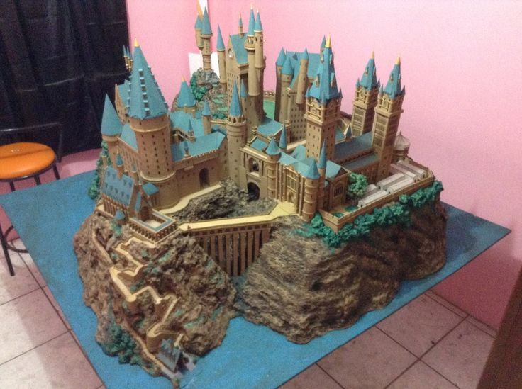 HP Castillo de Hogwarts Paper Model - Finished by ana-wandmaker.deviantart.com on @deviantART