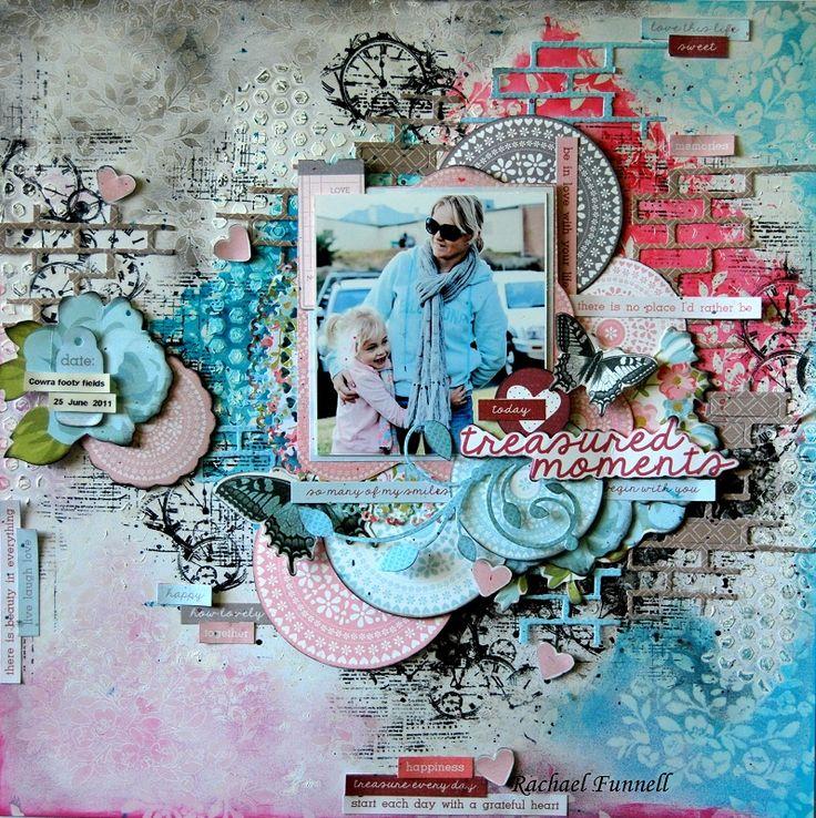 "Memories"" layout by Rachael Funnell Design Team Kaisercraft using New June Secret Garden Collection - Wendy Schultz ~ Scrapbook Pages 3."
