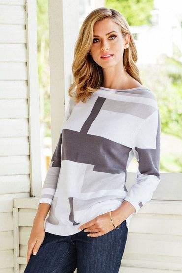 Buy Yarra Trail Intarsia Knitwear | Shop Tops Womenswear at the BrandStore EziBuy NZ