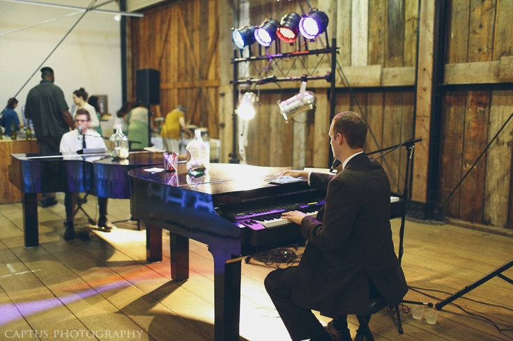 Dueling pianos at wedding reception instead of a DJ or band (or in addition to)!  GENIUS.