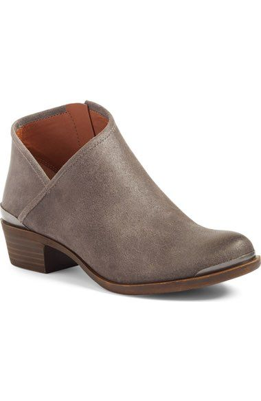 in  tan. Lucky Brand Breeza Asymmetrical Bootie (Women) available at #Nordstrom
