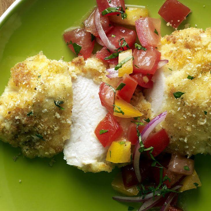 Parmesan-Crusted Bruschetta Chicken
