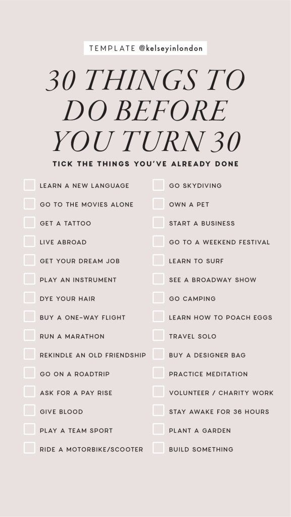 50 things to do before i die