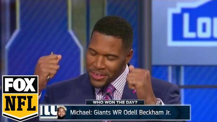 Michael Strahan explains why Odell Beckham Jr. won Week 6's Sunday actio...