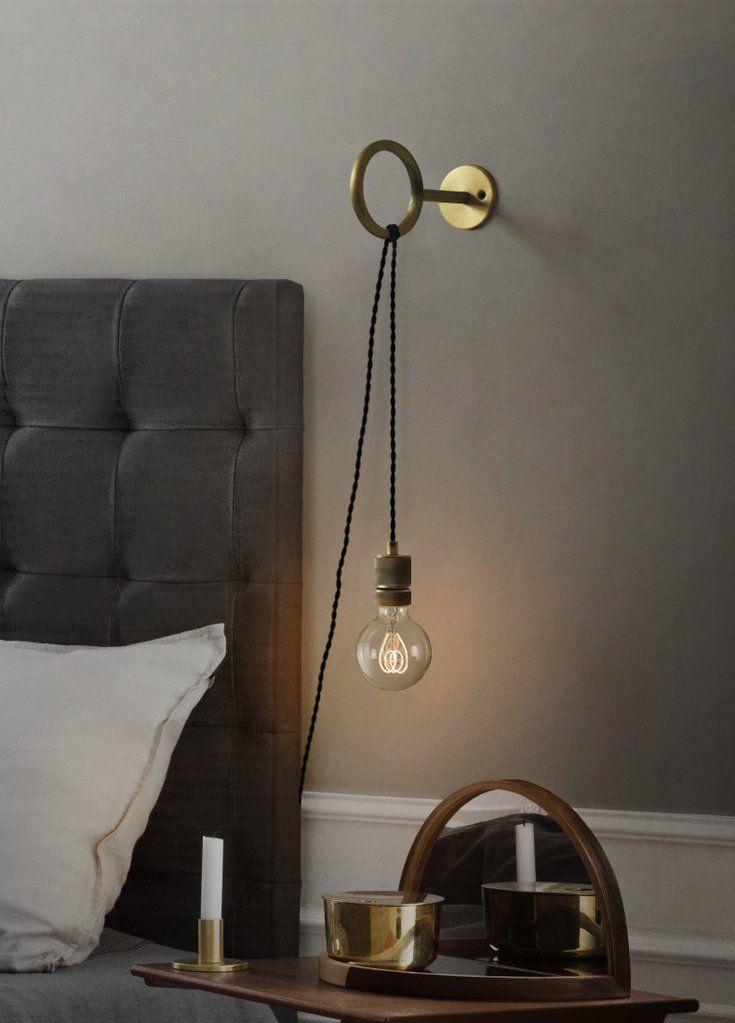Circus Loop Minimalist Wall Light With Wall Socket In 2020 Plug In Wall Lights Wall Lights Bedroom Pendant Lighting Bedroom
