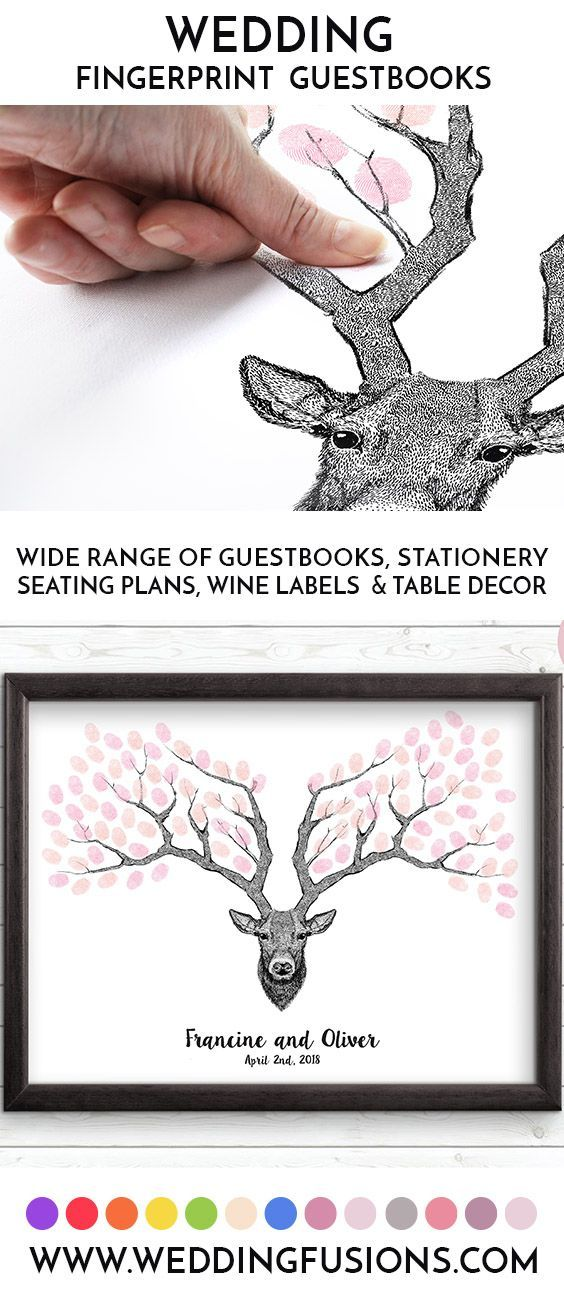 Deer wedding tree, a deer head / stag wedding guestbook, the perfect keepsake for any celebration. #wedding #weddingtree #guestbook