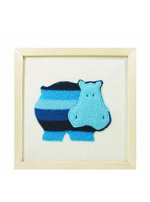 23% OFF Cate & Levi Hippo Wall Art, Blue/Dark Blue