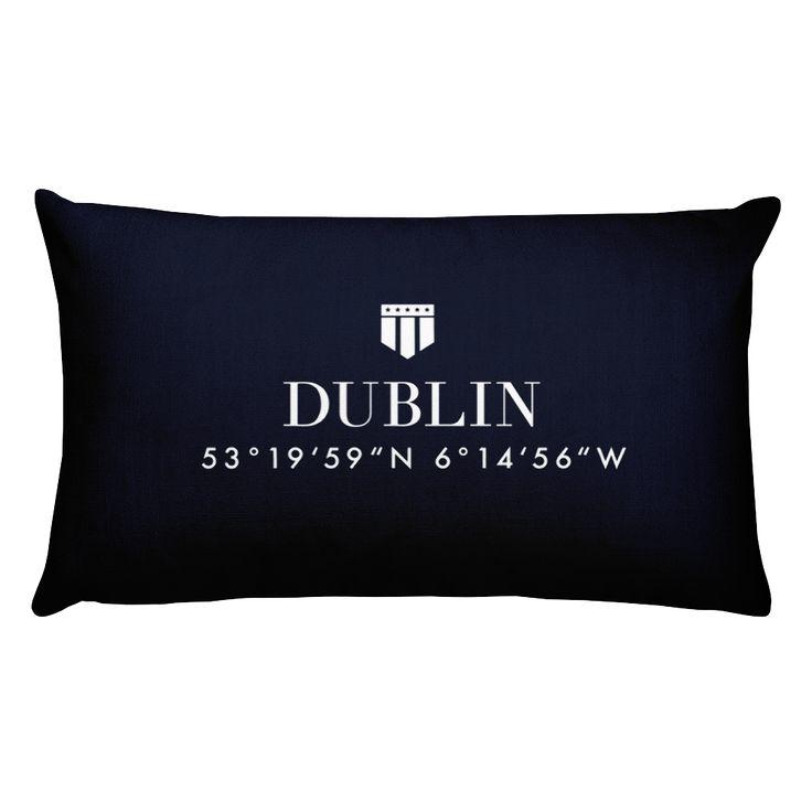Dublin Irland Pillow with Coordinates