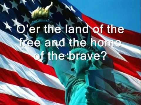 USA National Anthem with lyrics (by Jaimina Johnston)